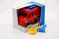 """Авто в кор. Автобус """"Бусик""""+ лопатка и грабельки COLOR plast ( Ч )"""
