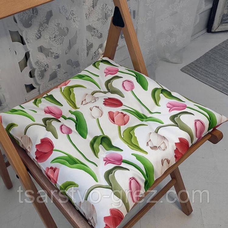 Подушка на стул Тюльпаны