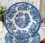 Фарфоровая суповая тарелка, бело синий фарфор, Royal Wessex Churchill, Англия, винтаж, фото 2