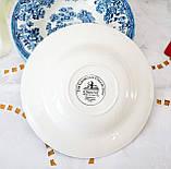 Фарфоровая суповая тарелка, бело синий фарфор, Royal Wessex Churchill, Англия, винтаж, фото 6