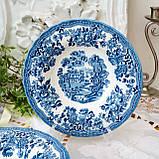 Фарфоровая суповая тарелка, бело синий фарфор, Royal Wessex Churchill, Англия, винтаж, фото 8