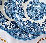 Фарфоровая суповая тарелка, бело синий фарфор, Royal Wessex Churchill, Англия, винтаж, фото 5