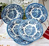 Фарфоровая суповая тарелка, бело синий фарфор, Royal Wessex Churchill, Англия, винтаж, фото 3