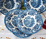 Фарфоровая суповая тарелка, бело синий фарфор, Royal Wessex Churchill, Англия, винтаж, фото 4