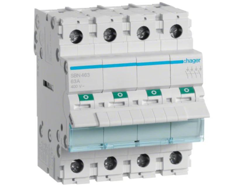 Модульный Переключатель однофазный Hager SBN480 4P 80А/400В 4м