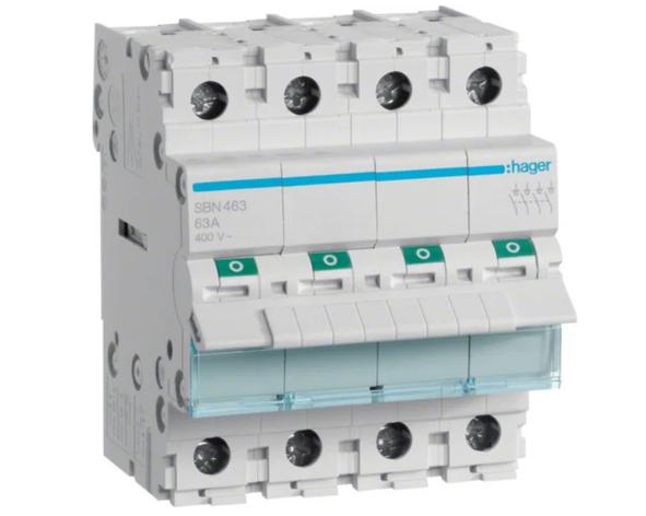 Модульный Переключатель однофазный Hager SBN480 4P 80А/400В 4м, фото 2
