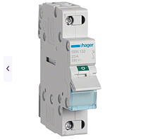 Модульный Переключатель однофазный Hager SBT116 1P (230В/16А) с индикацией