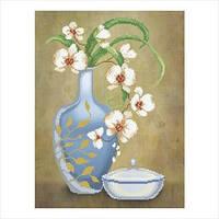 """Схема для вышивки бисером """"Ваза с орхидеями"""""""