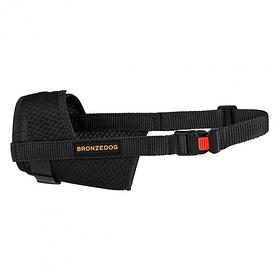 Намордник для собак Bronzedog дышащий регулируемый 3D сетка черный 16-22 см