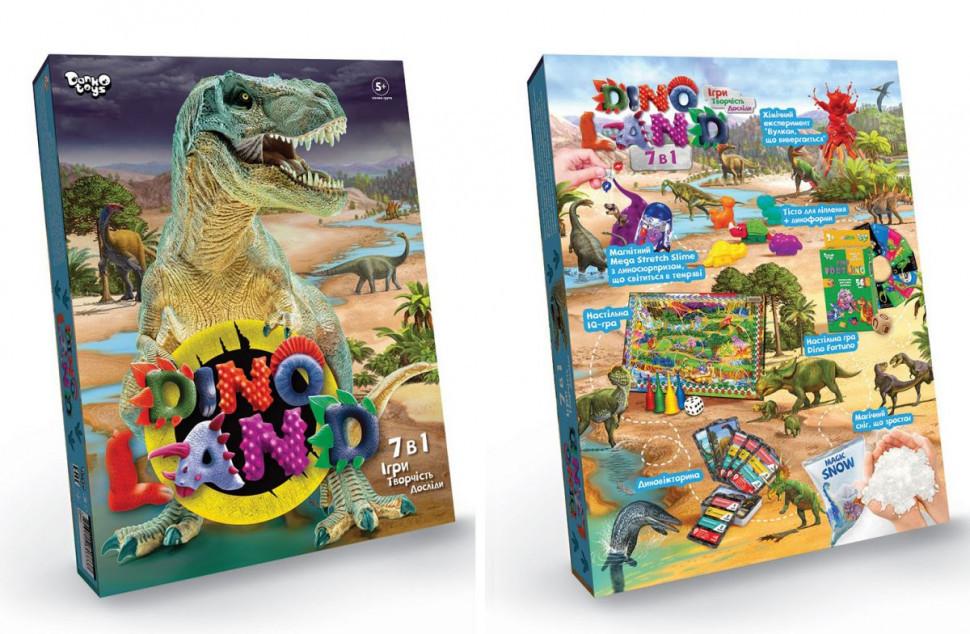 """Набір креативного творчості """"Dino Land"""" DL-01-01U, 7 в 1"""