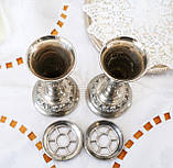 Посеребренные фрог вазочки, парные вазы, серебрение по меди, Англия, винтаж,  Ianthe, Silver Plate, фото 8