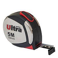 Рулетка магнитная, нейлоновое покрытие 5м×19мм ULTRA ()