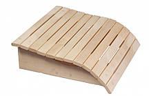 Підголовник дерев'яний для сауни, лазні (липа).