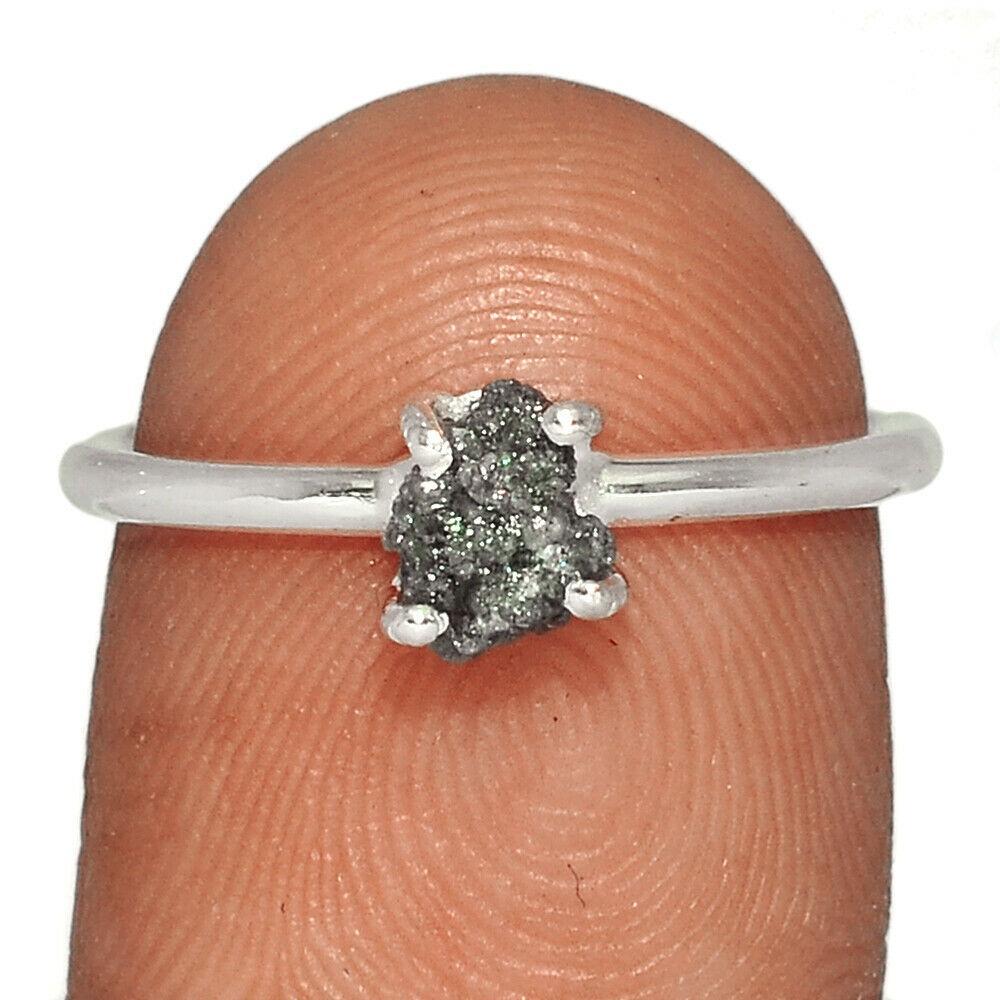Серебряное кольцо с алмазами самородки, 2733КЦА