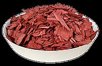 Щепа (тріска) декоративна кольорова GARDEN, 50л, червона, квадратна, 140
