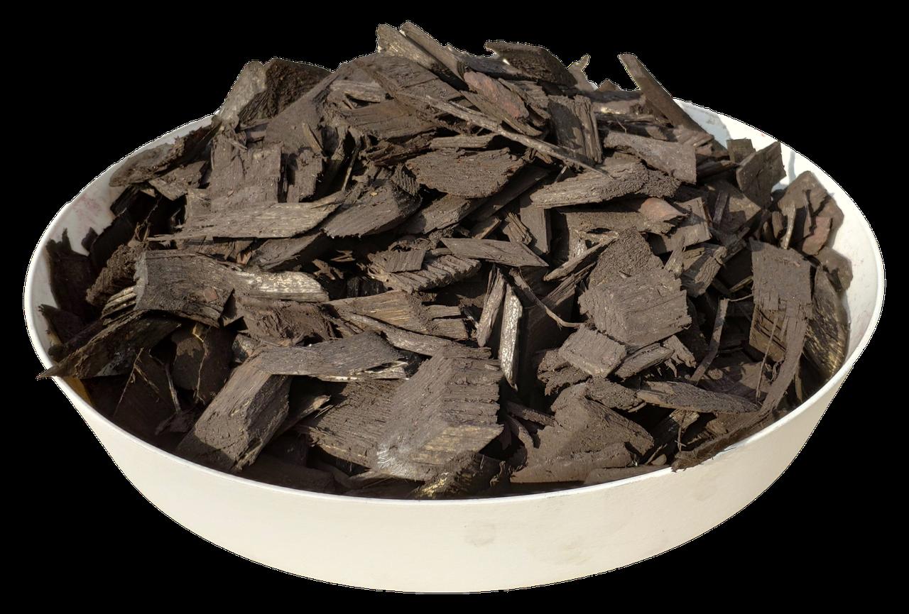 Тріска (тріска) декоративна кольорова GARDEN, 50л, чорна, квадратна, 750