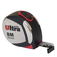 Рулетка магнитная, нейлоновое покрытие 8м×25мм ULTRA ()