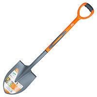 Лопата штикова з пластиковою ручкою 290×210×1050мм 1.9 кг FLORA ()
