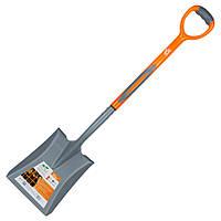 Лопата совкова з пластиковою ручкою 280×240×1050мм 1.8 кг FLORA ()