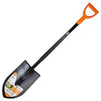 Лопата штикова з металевою ручкою 365×210×1170мм 2.1 кг (американка) FLORA ()