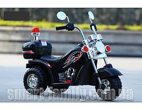 Дитячий мотоцикл Harley-David (мотора 18W, світло) Baby Tilly T-7230 BLACK Черни | Дитячий електромотоцикл Тіллі