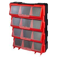Органайзер пластиковый вертикальный 12 закрывающихся отсека 460×360×120мм ULTRA ()