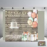 Банер на  весілля 2х2, на юбилей, день рождения. Печать баннера |Фотозона|Замовити банер|З Днем народже, фото 9