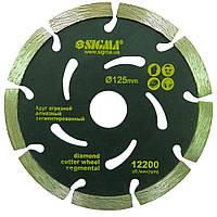 Круг алмазний сегментований Ø400×25.4 мм, 3800об/хв SIGMA ()