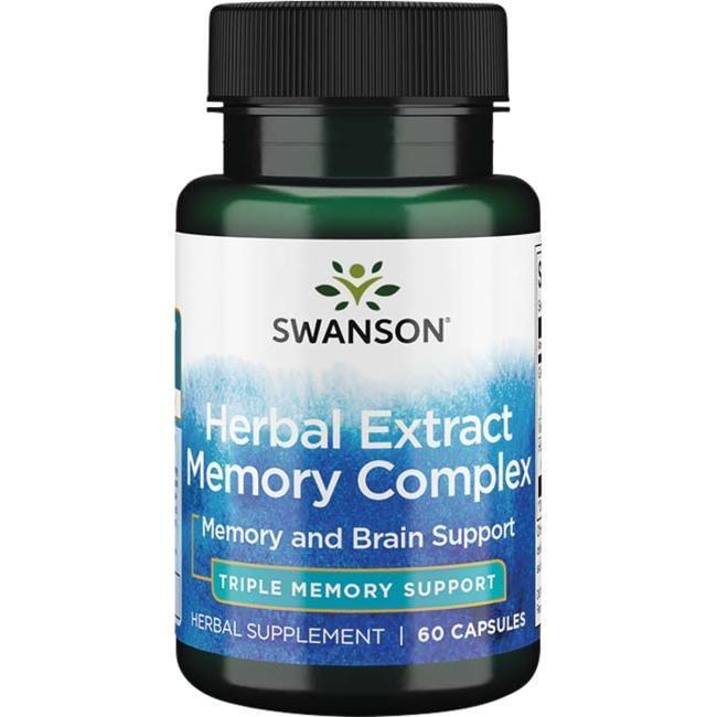 Вітаміни для поліпшення пам'яті, Memory Complex, Swanson, 60 капсул