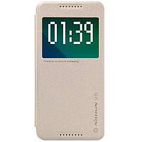 Кожаный чехол Nillkin Sparkle для HTC Desire 626G Dual Sim золотистый