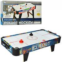Воздушный хоккей деревянный Power Hockey 3005B работает от батареек