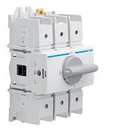 Выключатель напряжения (рубильник) поворотный Hager HAD312 3P 125А