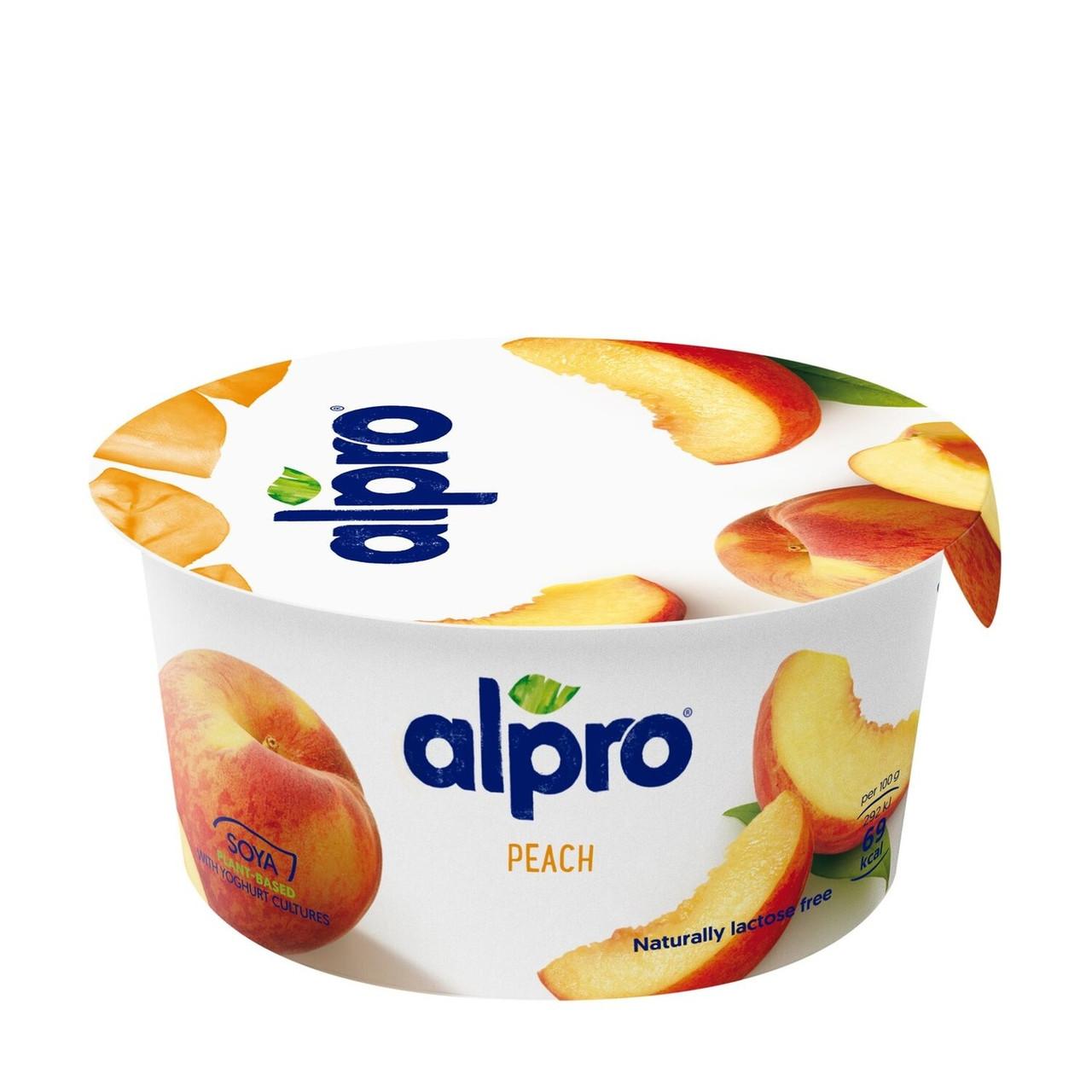 Продукт ферментированный соевый c персиком Alpro  150г