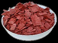 Щепа (тріска) декоративна кольорова GARDEN, 50л, червона, квадратна, 130