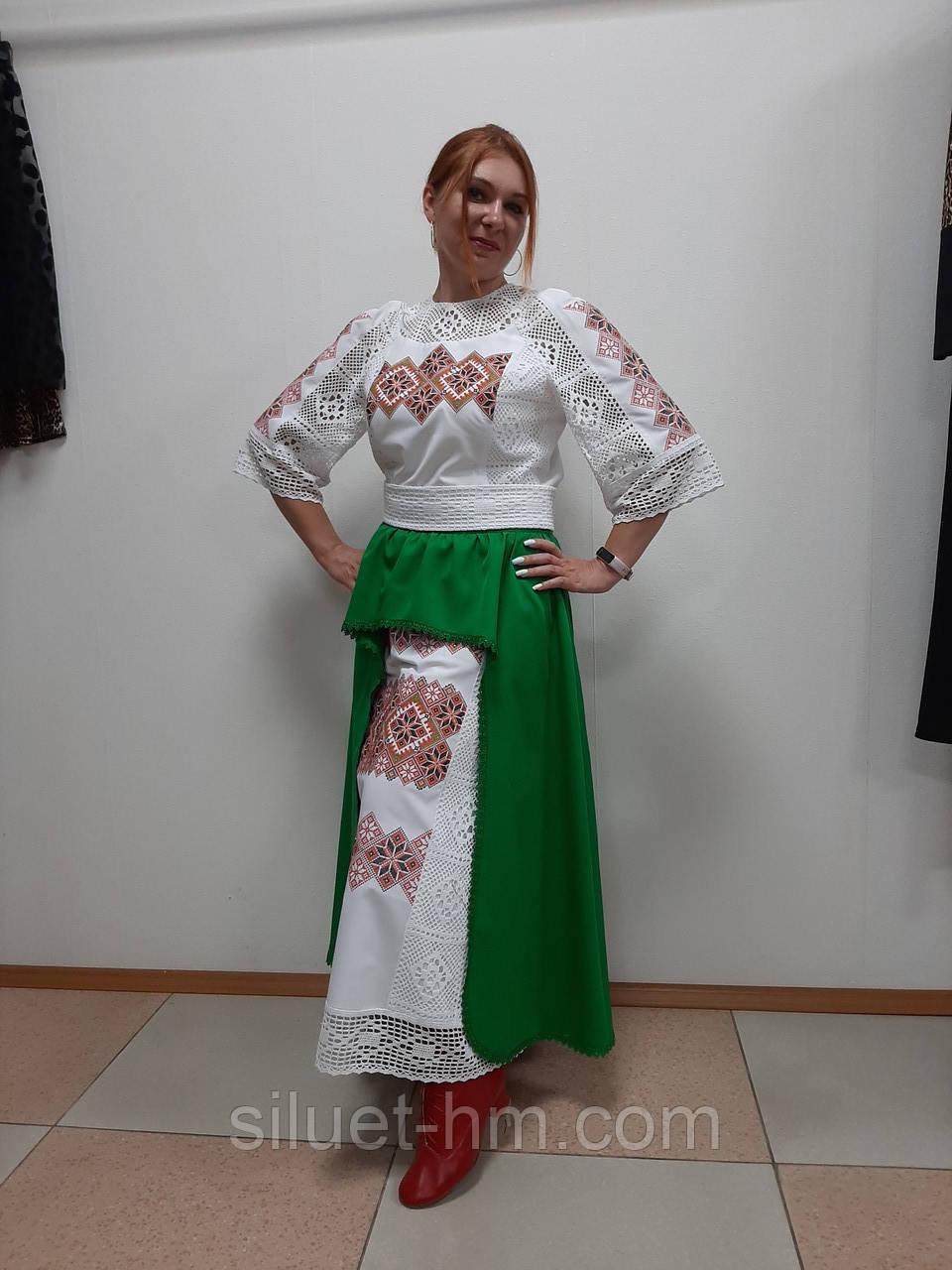 Комплект з вишитого плаття та спідниці