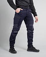 Брюки джинсы ДСНС темно-синие канвас-браш стрейч