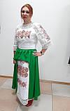 Комплект з вишитого плаття та спідниці, фото 2