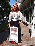Комплект з вишитого плаття та спідниці, фото 4