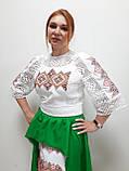 Комплект з вишитого плаття та спідниці, фото 5