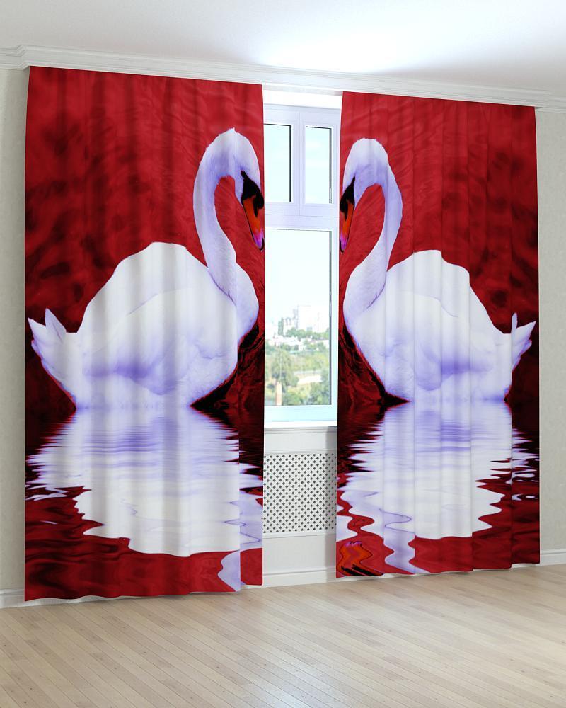 Фотошторы лебеді 3D