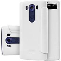 Кожаный чехол Nillkin Sparkle для LG V10 белый, фото 1