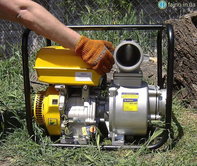 мотопомпа для перекачки воды садко wp-100