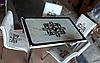 """Раскладной стол обеденный кухонный комплект стол и стулья 3D 3д """"Узор"""" ДСП стекло 70*110 Mobilgen"""