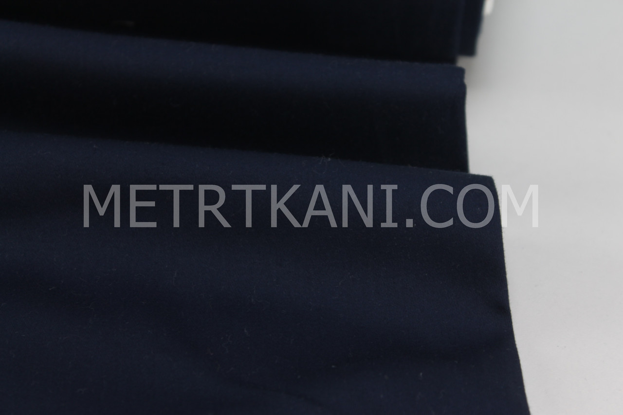 Клаптик. Сатин преміум темно-синього кольору , ширина 240 см, 74*240 см