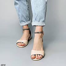 Босоніжки зі стразами без каблука 6816 (СБ), фото 3