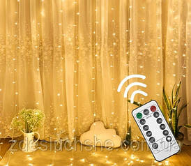 Гирлянда Штора 32м Curtain Light With Remote с пультом SKL11-277589
