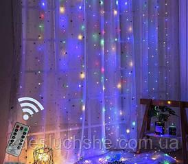 Гирлянда Штора 32м разноцветная Curtain Light With Remote с пультом SKL11-277590