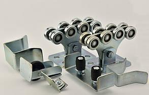 Комплект фурнитуры для откатных ворот до 400 кг SP-6 Silver Optima с оцинкованной консолью (направляющая 6 м)