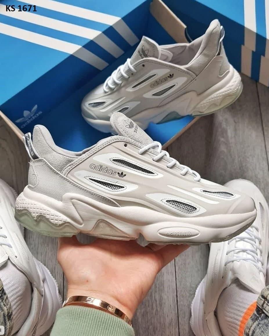 Мужские кроссовки Adidas Ozweego Celox Grey (серые) KS 1671 качественная молодежная обувь