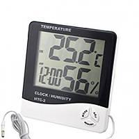 Цифровий термометр, годинник, гігрометр з проводдом 117626 Найкраща якість